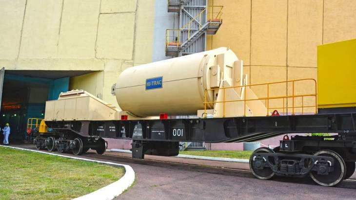 Energoatom tests Holtec used fuel casks at Rovno plant