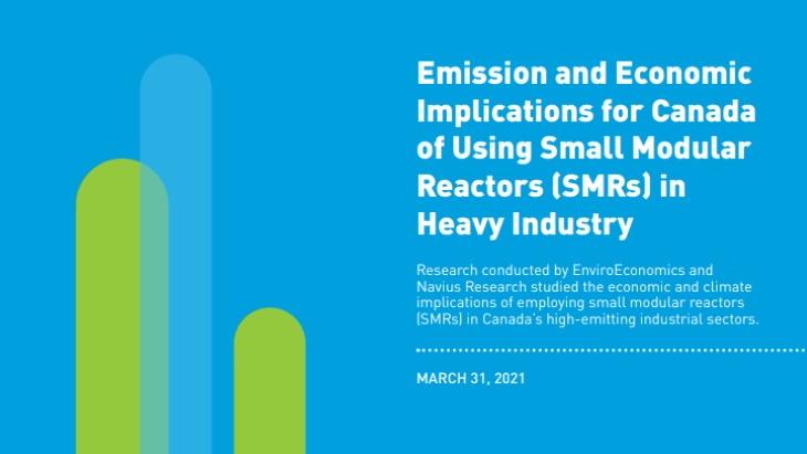 Study highlights benefits of SMRs to Canadian industries