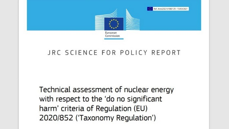EU Taxonomy can move forward with nuclear, JRC finds