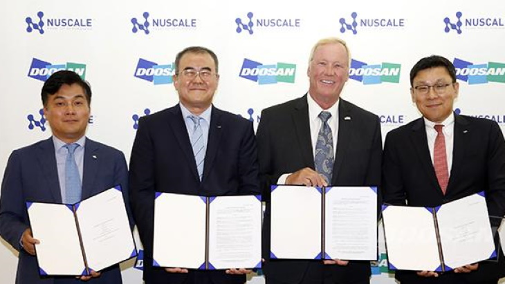Doosan, NuScale sign agreements for SMR cooperation