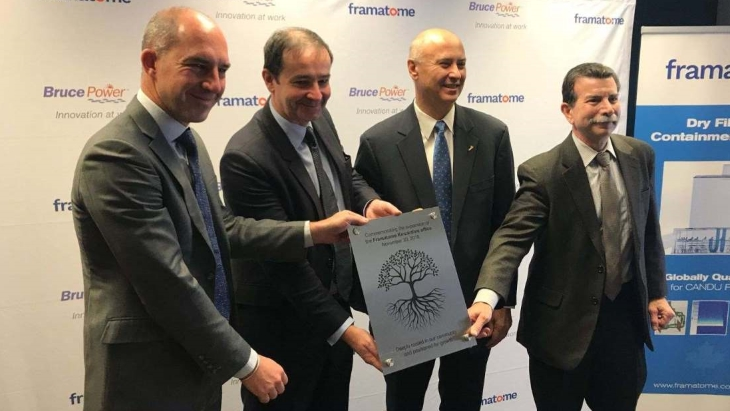 Bruce and Framatome sign CAD18.7 million MoU