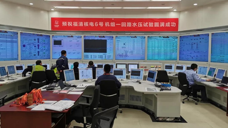 Second Fuqing Hualong One reactor completes cold tests