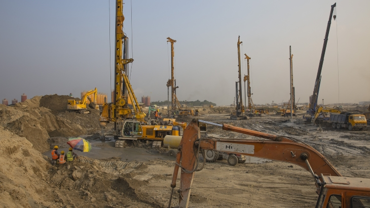 Construction progress at Bangladesh plant