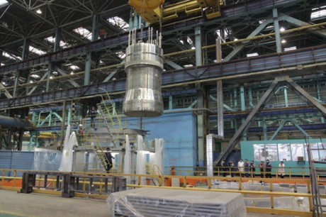 Assembly of reactor internals for Belarus plant - 460 (AEM-Technology)