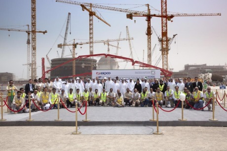 Barakah 4 first concrete - 460 (UAE Ministry of Energy)