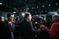 Barroso talking to the press