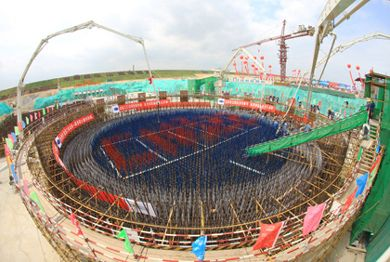 Changjiang 1 first concrete (CNNC)