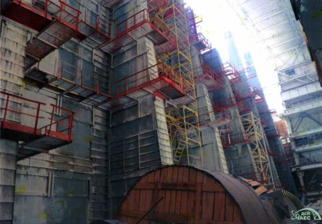 Chernobyl NSC front wall - 460 (ChNPP)