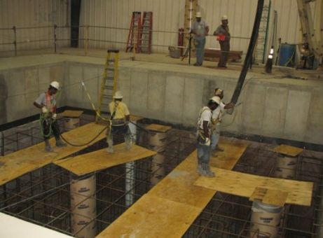 Concrete pouring at US Technical Centre (Areva)