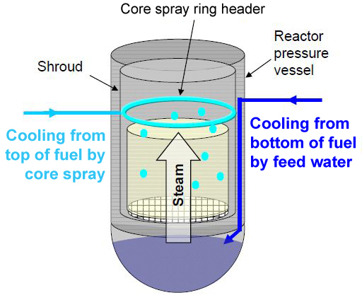 Core spray system (Tepco)