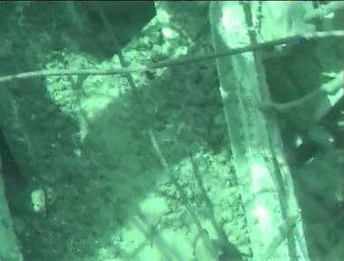 Debris and dust in Fukushima Daiichi 3's used fuel pond, May 2011