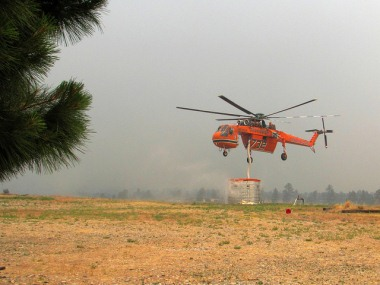 Firefighting helicopter at Los Alamos National Lab (LANL)