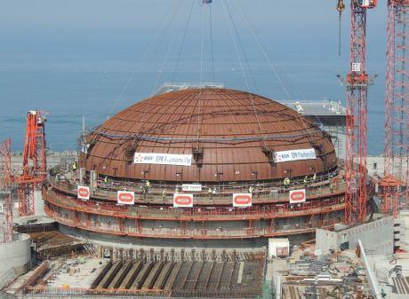 Kupola elektrarne Flamanville 3 uspešno nameščena (Slika: EDF)