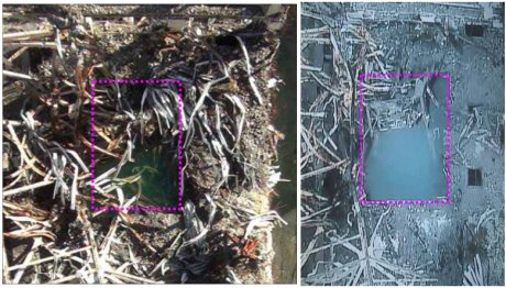 Fukushima Daiichi 3 fuel pond debris, November 2011 and September 2012 (460x262)