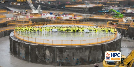 Hinkley Point C reactor foundation - 460 (EDF Energy)