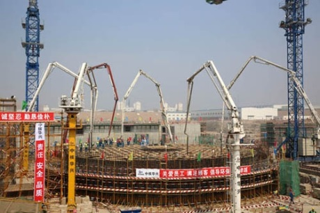 Hongyanhe 5 first concrete - 460 (CNEC)