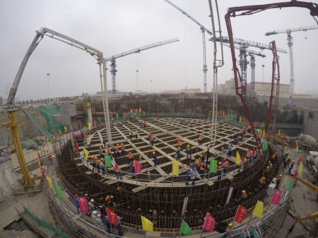 Hongyanhe 6 first concrete - 460 (CGN)