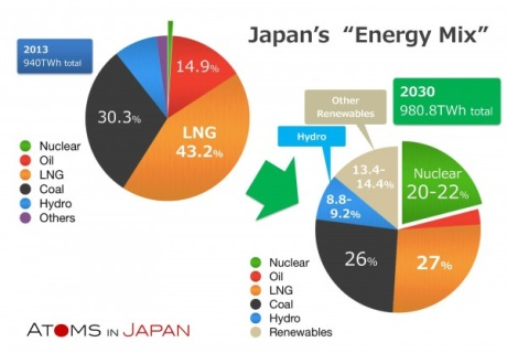 Japans energy mix to 2030 - 460 (JAIF)