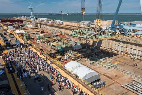 Kennedy_keel_laying_(HII-Oxley)_460