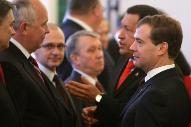 Kiriyenko, Chavez and Medvedev, October 2010