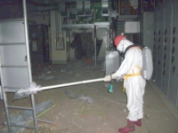 Measuring radiation in Fukushima Daiichi 1, May 2011
