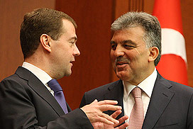 Medvedev and Gul (Image: Presidential Press and Information Office)