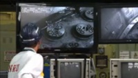 NRU on screen during repairs (AECL)