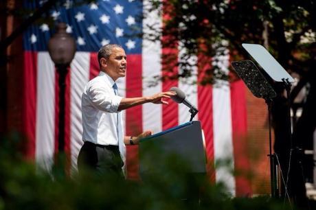 Obama predstavi načrt za zmanjšanje emisij (Slika: Georgetown University)