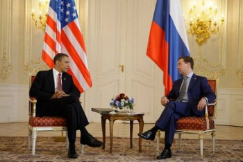 Obama and Medvedev in Prague (Kremlin)