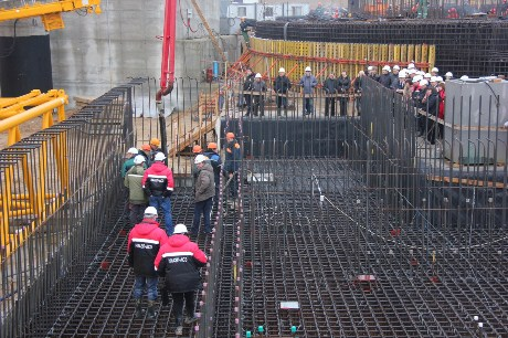 Ostrovets first concrete 460 (Belarus AEC)