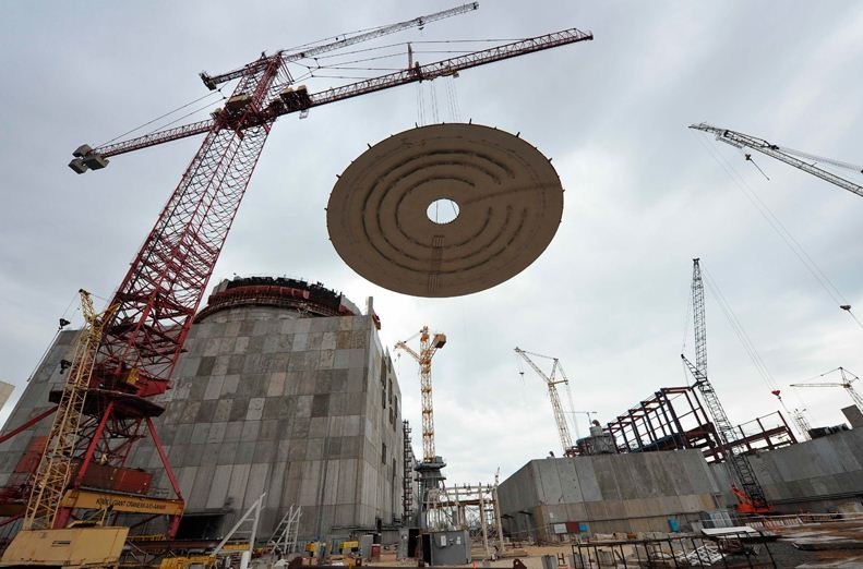 Rostov 3 dome lifting (Rosenergoatom)
