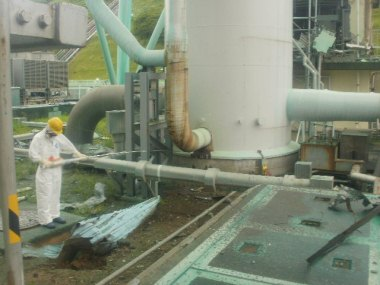 Surveying the Standby Gas Treatment System, August 2011