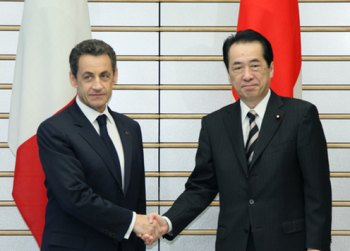 Sarkozy and Kan (Image: Cabinet Public Relations Office)