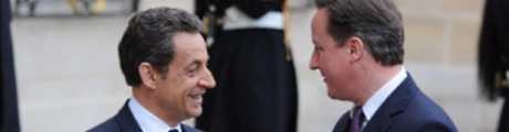 Sarkozy and Cameron in Paris, February 2012 460x120