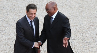 Sarkozy and Zuma in Paris, February 2011