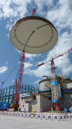Taishan 2 dome lifting
