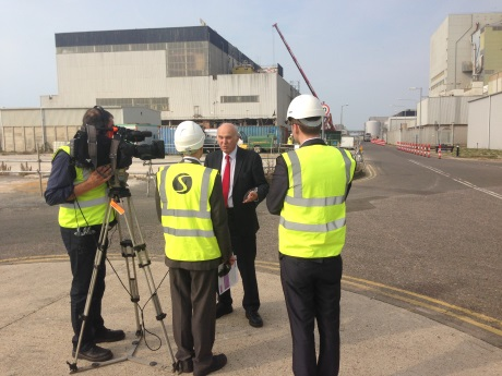 Vince Cable at Dungeness 460 (Magnox)