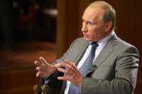 Vladimir Putin during interview 200x133