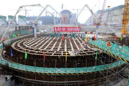 Yangjiang 3 first concrete (CGNPC)