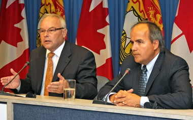 Jack Keir and Gaetan Thomas (Image: Government of New Brunswick)