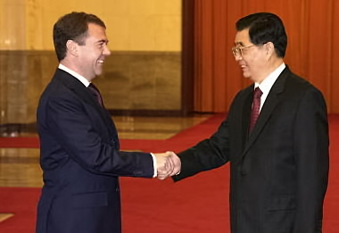 Jintao and Medvedev (Russian Presidency)