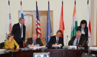 Signing the procurement arrangement (image: ITER)