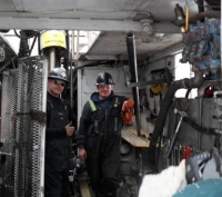 Drill operators at Roughrider (Hathor)