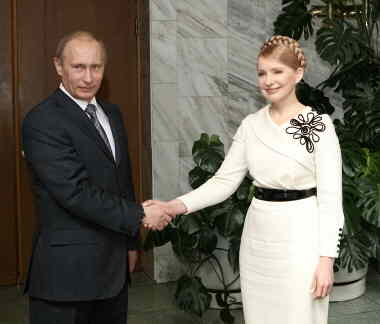 Tymoshenko and Putin (www.kmu,gov.ua)